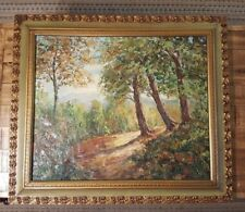 """VERY NICE LARGE - Lawacki / Signed Painting - Framed (30"""" x 26"""") Forest Scene"""