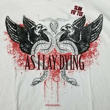 As I Lay Dying Men's Slim Fit 2XL T-Shirt Licensed Band Tour Concert Metalcore