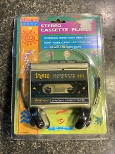 NEW! Vintage Street Beat Stereo Personal Cassette Tape Player Retro 90's (AS-IS)
