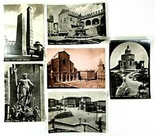 Bologna Italy RPPC Lot of 6 Unposted Postcards B & W and Sepia 5.5 x 4 Inches