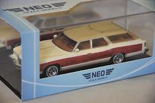NEO 47100 - Pontiac Grand Safari blanc/bois - 1976   1/43