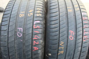 245 45 18 Michelin, Primacy 3 100Y, x2 A Pair, 5.8mm (f1_tyres) L5142 FO