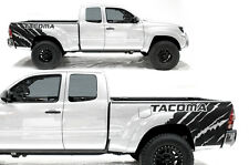 Vinyl Graphics Decal Wrap Kit for 2005-15 Toyota Tacoma Rear Quarter MATTE BLACK
