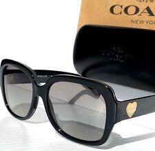 18ed174ac964f NEW  Coach BLACK Designer frame w GOLD HEART Women s Sunglass HC8251 L1052