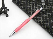 Stylish Pink crystal colors silver TRIM Plastic and aluminium BALLPOINT PEN
