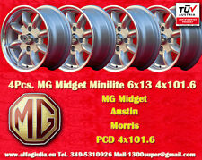 4 Cerchi MG Midget  Minilite 6x13 PCD 4x101.6 Wheels Felgen Llantas Jantes TUV