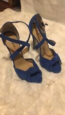 Just Fab Very High Heels Size 7 (fits Like Size 7.5) Blue