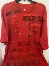 MAJESTIC Boston Red Sox MLB Mens T-Shirt XL Red Baseball Short Sleeve Big Print