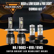 AUXBEAM H4 9003 LED Headlight Canbus Bulbs+9145 H10 Fog for Toyota Tacoma 05-11