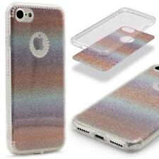 Urcover® Apple iPhone 7/7 Plus Glitter Rainbow Protective Case Bling Cover Case