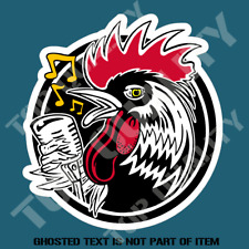 Rockabilly Rooster Sticker Decal by Artist Kruse RK35