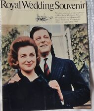 "Royal Wedding souvenir 1963. Princess Alexandra and Angus Ogilvy. 7"" X 9"""