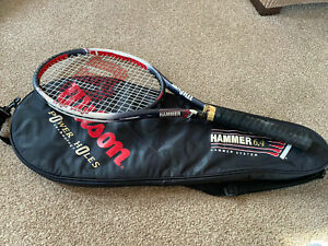 """Wilson Hammer 6.4 Tennis Racquet Racket Power Holes 4 3/8""""  🎾🎾 🎾💛🎾🎾🎾"""
