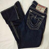 True Religion Men's Jeans 34 Joey Super T Blue Denim fits 36x35 Twisted Seam