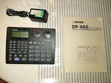 BOSS DR-660 Rhythm drum machine dr660 w/ Owner's Manual + Power Supply!