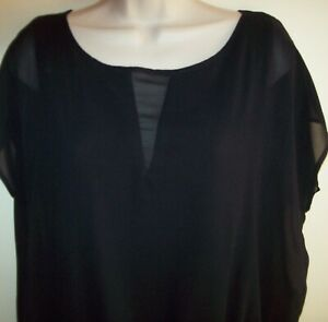 Basque lined black top Size 12