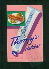 Rezept-Faltblatt Thomy's Delikatess-Senf delikat 1956 Fotos Rezepte