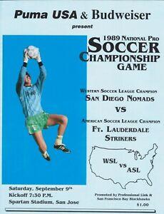 1989 National Pro Soccer Championship game program, APSL, ASL WSL