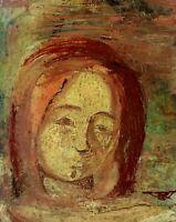 PORTRAIT DE DAME. HUILE SUR TABLEX. SIGNE ROSARIO  VELASCO. ESPAGNE. CIRCA 1970