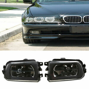 for BMW E39 528i 540i Z3 95-00 Front Driving Bumper Clear Fog Lights Lamps Pair