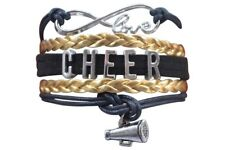 Girls Cheer Charm Bracelet, Cheerleading Jewelry, Cheerleader Gift, 20 colors av
