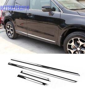 Fits 2014-2018 Subaru Forester Chrome Body Side Door Molding Cover Trim Garnish