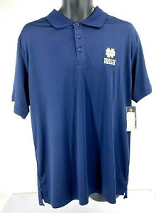Notre Dame NWT Size XL Fighting Irish Mens Collegiate Performance Polo Shirt