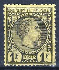 "MONACO STAMP TIMBRE 9 "" PRINCE CHARLES III 1F NOIR S.JAUNE "" NEUF A VOIR  P218"