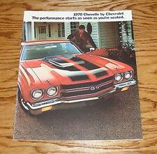 1970 Chevrolet Chevelle Sales Brochure 70 Chevy SS 396 454 Malibu Heavy chevy