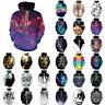 Men Womens Animal 3D Graphic Print Hoodie Sweater Casual Sweatshirt Pullover Top