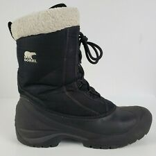SOREL Size 11 Womens Cumberland 200G Insulated Black Snow Winter Boots Lace Up