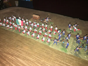 72 Painted 1/72 - Mexican War - Alamo - Mexican Infantry Battalion w Artillery !
