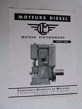 prospectus moteur fixe diesel stationnaire CLM type 302
