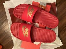 DS NWT Nike Benasi JDI Mens Sandal Slide University Red/Gold 343880-602 Sz 10