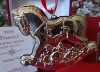2016 NIB REED & BARTON 19TH  STERLING FRANCIS I ROCKING HORSE ANNUAL ORNAMENT