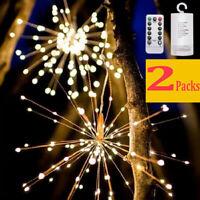 2PCS Xmas LED Licht Lichter Fernbedienung Weihnachtsbeleuchtung Lichterkette DE