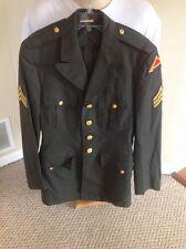 US ARMY Military Green Uniform Sergeant E-5 7th Jacket Blazer Coat Sz 36 X-Long