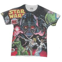 Star Wars Battle With Vader Sublimation Licensed Adult T-Shirt