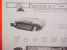 1974 PONTIAC GRAND PRIX GRANDVILLE CONVERTIBLE GTO AM-FM RADIO SERVICE MANUAL 1