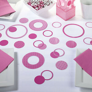 Pink Circle Confetti Wedding confetti Birthday Party Confetti Bridal Shower