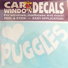 Love Puggles - Made In Usa - Car Vinyl Dog Decal Sticker