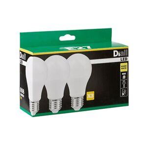 Diall E27 Classic LED Light bulb, Pack of 3