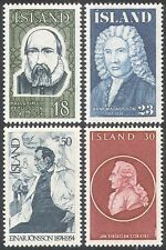 Iceland 1975 Famous People/Poet/Painter/Historian/Politician 4v set (n41352)