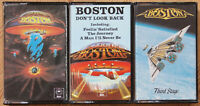 "3x BOSTON CASSETTE TAPES / ""BOSTON"" / DON'T LOOK BACK / THIRD STAGE HARD ROCK"