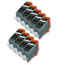 9 BLACK Printer Ink + smart chip for Canon PGI-220 MP640 MX860 MX870 MP980 MP990
