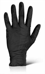 STRONG Black Nitrile Gloves Powder Latex Free PPE Disposable Medical Protection