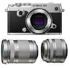 Olympus PEN-F Mirrorless Digital Camera w/14-42mm IIR & 40-150mm Lenses [Silver]