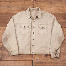 """Mens Vintage Diesel Reversible Suede Leather Western Jacket Cream M 42"""" R5083"""