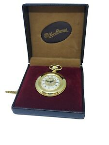 Vintage Lucien Piccard Swiss 17 Jewels Pocket Watch - New Old Stock!