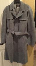 Pendleton Men's Size 46 Gray 100% Pure Wool Trench Overcoat Dress Coat Jacket